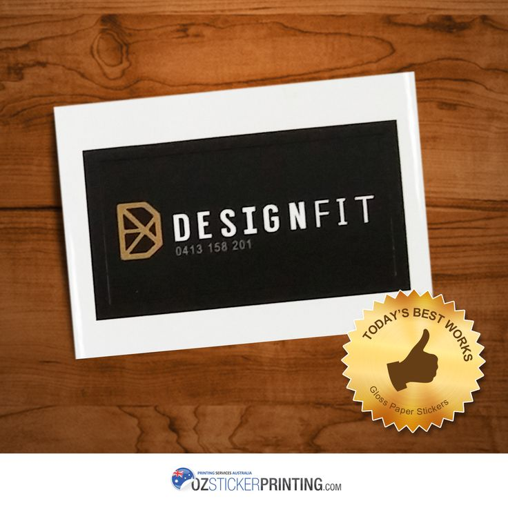 Do you know stickers will help you promote your brand? Check out how Designfit Interiors do it with their own. #artpaperstickers #artpaper #paperstickers #glossystickers #glosspaper #gossylabels #labels
