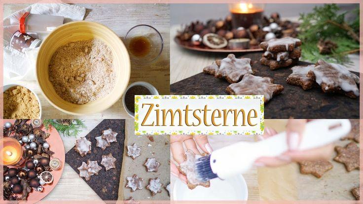 Zimtsterne backen - Vegane Kekse selber machen - Tolles gesundes REZEPT ...