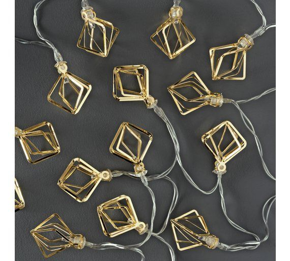 Buy Collection Set of 20 Diamond Cage LED String Lights - Gold at Argos.co.uk, visit Argos.co.uk to shop online for Novelty lights, Lighting, Home and garden