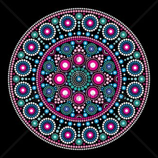 Abstract Mandala With Dots, Circles Inspired By...