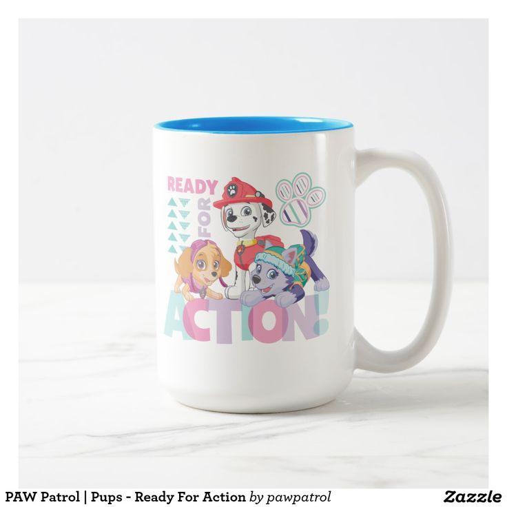 PAW Patrol | Pups - Ready For Action. Puppy, dog lover. Regalos, Gifts. Producto disponible en tienda Zazzle. Tazón, desayuno, té, café. Product available in Zazzle store. Bowl, breakfast, tea, coffee. #taza #mug