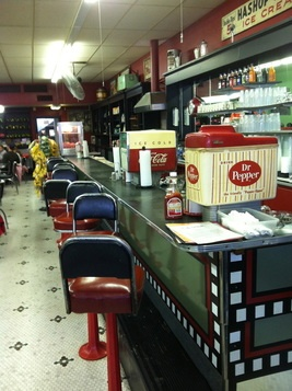Oldest continually-operated soda fountain in Texas is in Corsicana. At Caleb's Diner, you can get fountain Dr. Pepper. Yee-Haw!  texasgotitright.com