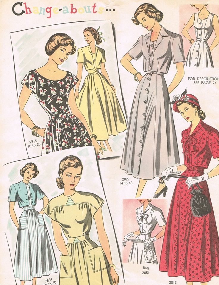 Zinnia Ridge Vintage: spring fashions 1949