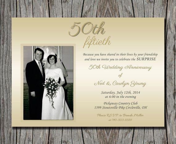 Surprise Wedding Invitation Wording: Pin By Tonya Touchard Eitmann On 50th Anniversary
