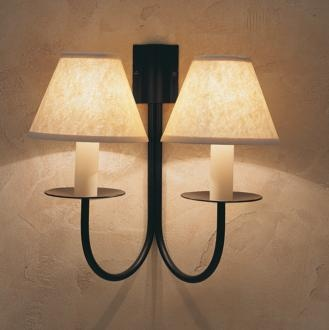 Double Classic Wall Light in Matt Black