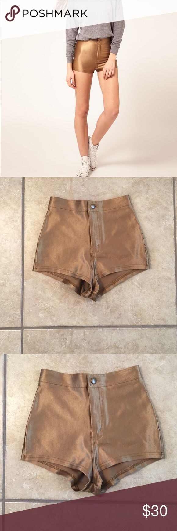 AMERICAN APPAREL women's DISCO Gold Shorts XS American Apparel women's Gold Disco Shorts.  Size: X Small.  In Great condition! If you have any questions feel free to ask! American Apparel Shorts