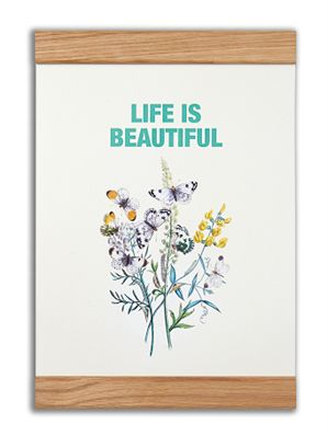 """Life is beautiful"" #messageearth #sustainable #poster #sustainability #eco #design #ecodesign #vintage"