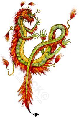 Asian Dragon. Artwork by 'Trick! TricksPlace.com