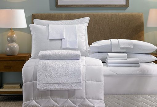 Imagine greeting every day with the same zest for life you feel during a Hampton vacation. The Hampton bed and bedding set includes everything you need for sublime sleep: the custom-designed Hampton Bed, mattress pad, our crisp hotel-grade sheets, fluffy duvet comforter and stylish jacquard cover. Four pillows—both our feather and down and down alternative styles—come with pillowcases and pillow protectors to top off your comfort. Capture the relaxed, warm atmosphere of Hampton, and linger…