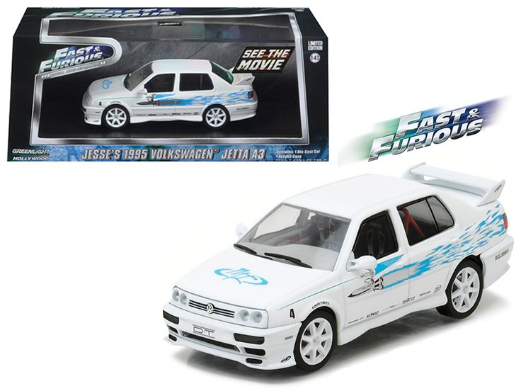 "Jesse's 1995 Volkswagen Jetta A3 ""The Fast and The Furious"" Movie (2001 ) 1/43 Diecast Model Car by Greenlight - Brand new 1:43 scale diecast car model of Jesse's 1995 Volkswagen Jetta A3 ""The Fast and The Furious"" Movie (2001 ) die cast car model by Greenlight. Rubber tires. Brand new box. Limited Edition. Detailed interior, exterior. Comes in plastic display showcase. Dimensions approximately L-5 inches long.-Weight: 1. Height: 5. Width: 9. Box Weight: 1. Box Width: 9. Box Height: 5. Box…"
