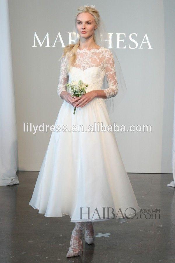 Ankle Length Custom Made Short Formal Bridal Dress Vestidos De ...