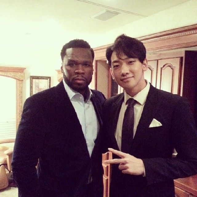 [article] Rain and Costar 50 Cent Looking Friendly for a Snapshot.