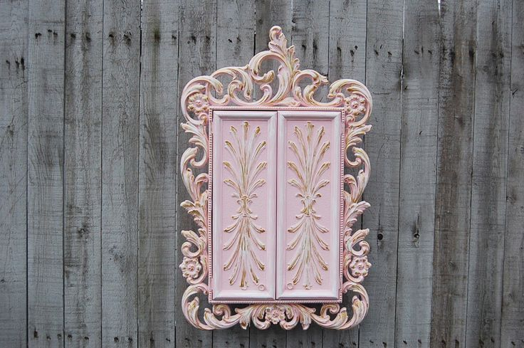 Learn more about >> ** Jewelry Subject, Jewelry Armoire, Shabby Trendy, Pink, Gold, Wall Mount, H...