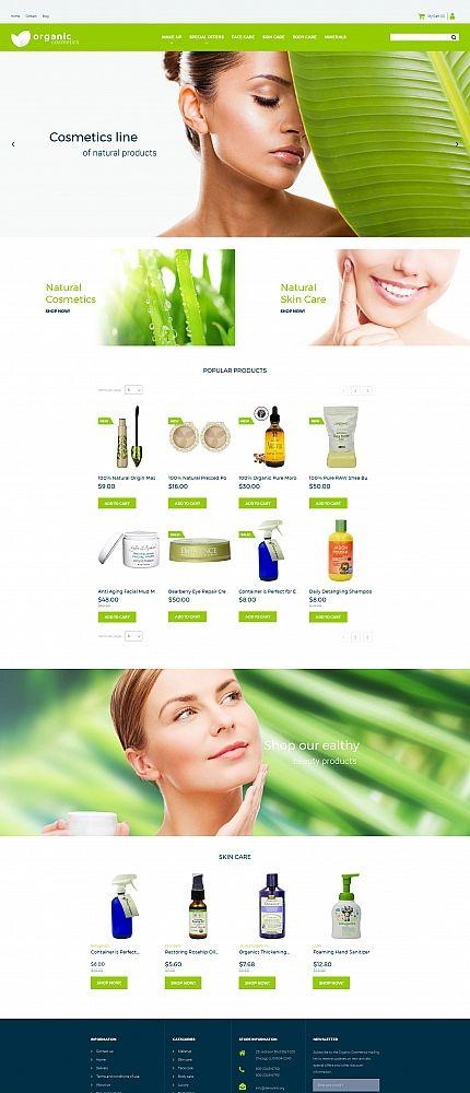Organic - #cosmetics  Store #responsive  MotoCMS #ecommerce  #template