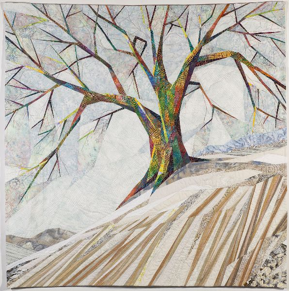 """Waiting out Winter""  Linda Beach art quilts"