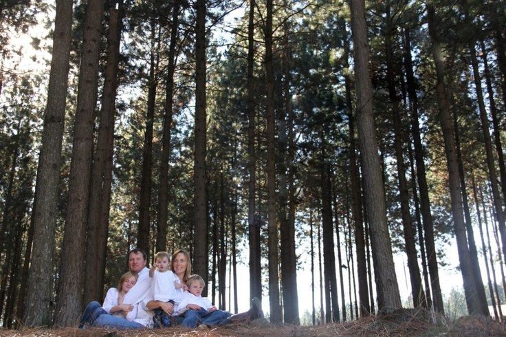 Outdoor natural forest family photo