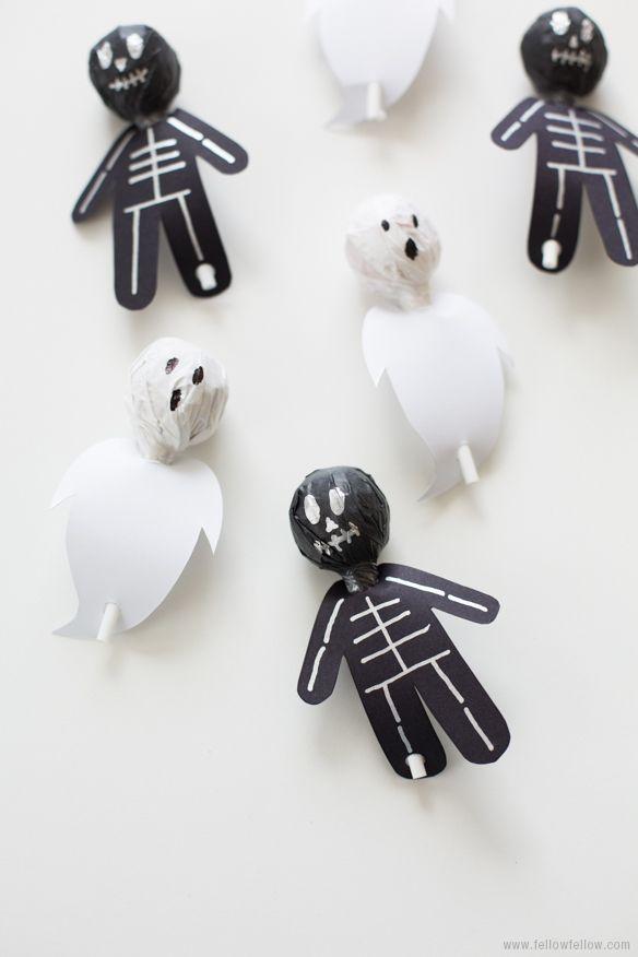DIY Spook-Pops// Halloween crafts ☆ // Basteln zu Halloween / #basteln #craft…