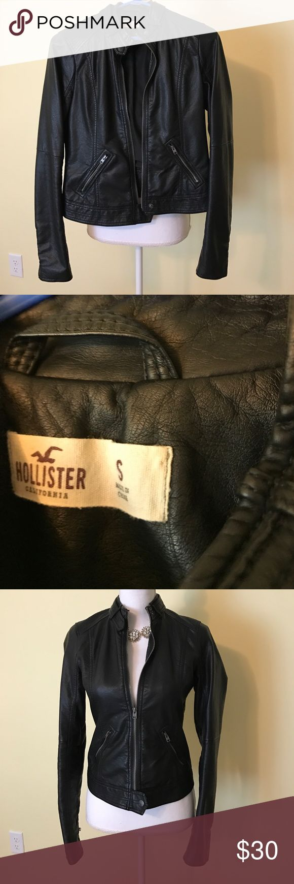 Hollister jacket Black leather jacket with lining Hollister Jackets & Coats
