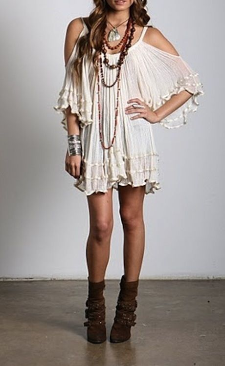Cute boho dress | I need a bigger closet... | Pinterest | Gypsy style Christmas gifts and Boots