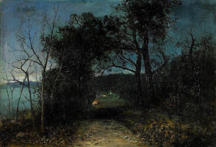 Olof Hermelin (1827-1913) Skymning Vid Långängen - Stocksund Date1911