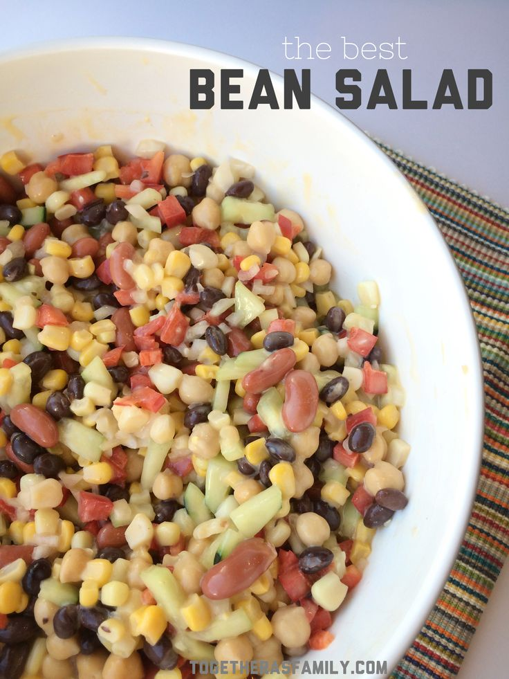 The Best Bean Salad. So simple & crazy good. Perfect for summer picnics & gatherings.