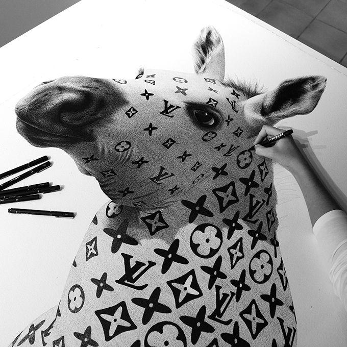 Australian Artist: CJ Hendry - Pen on Paper - The Cool Hunter - The Cool Hunter