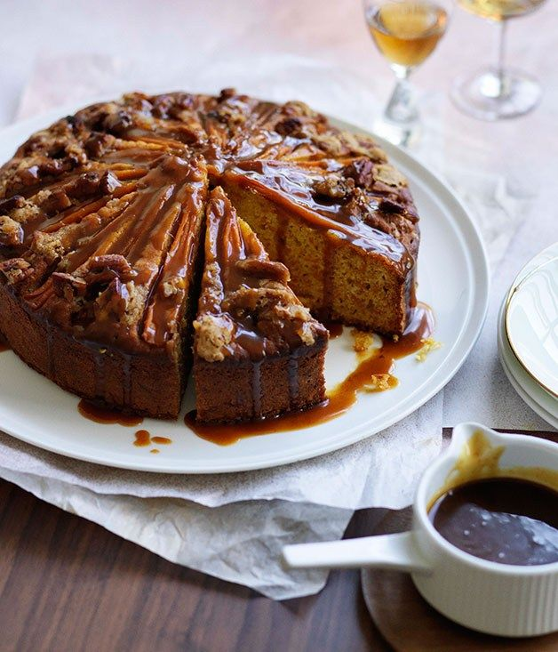 Buttermilk carrot cake with spiced caramel - Gourmet Traveller