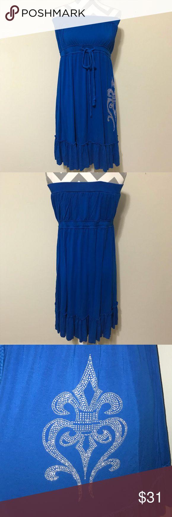 Euc Embellished Christina Love Xl Strapless Dress Embellished Dresses Clothes Design