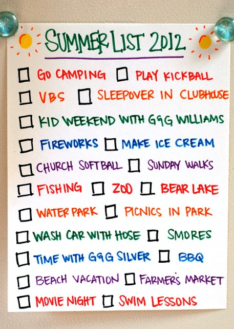 Summer checklist: Ideas Bucket List, Fun Idea, Summer List, Fun Summer, Summer Bucket Lists, Holiday Summertime Fun, Summer Checklist, Fun List