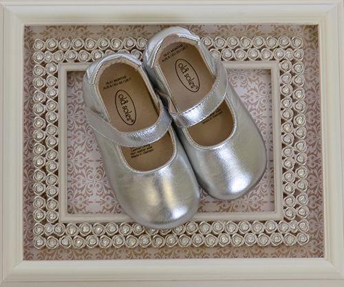 Old Soles Metallic Silver Ballet Shoes for Infants (2i & 3i)