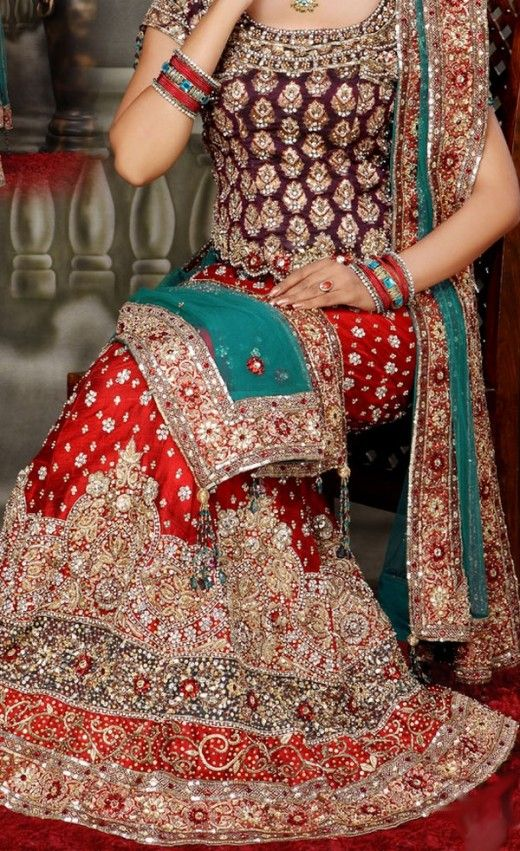 Bridal Lehenga In Red Color 2013 This post is dedicated to romantic color of red shades for bridal lehengas