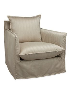 Lee Industries Agave Outdoor Slipcovered Chair In Ralph Smoke