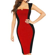 Summer Tropical Women Rockabilly Stylish Pinup Vintage Square Neck Sleeveless Clubwear Party Pencil Wiggle Business Dress E447(China (Mainland))
