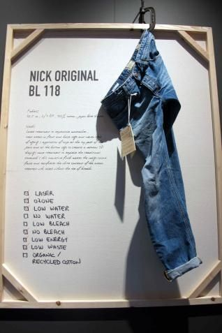 I can imagine doing this, but writing description of jeans on a blackboard.