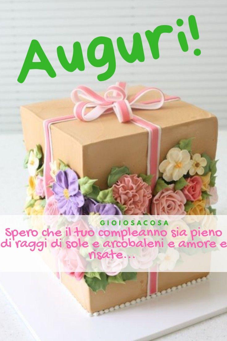 Buon Compleanno Auguri Gioiosa Cosa Torta Regalo Floreale Fiori