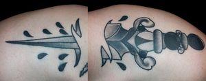 #traditional #dagger #tattoo
