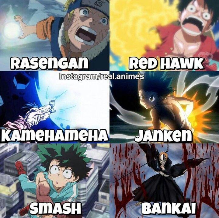 Choose Your Fighter Naruto Luffy Goku Gon Izuku Ichigo