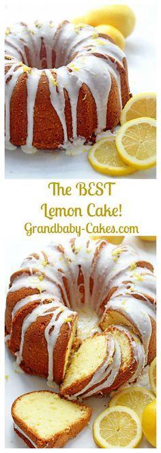 The Best Lemon Cake Recipe on the internet (The Ultimate Lemon Pound Cake with a SECRET ingredient!) - Grandbaby Cakes / Grandbaby-Cakes.com