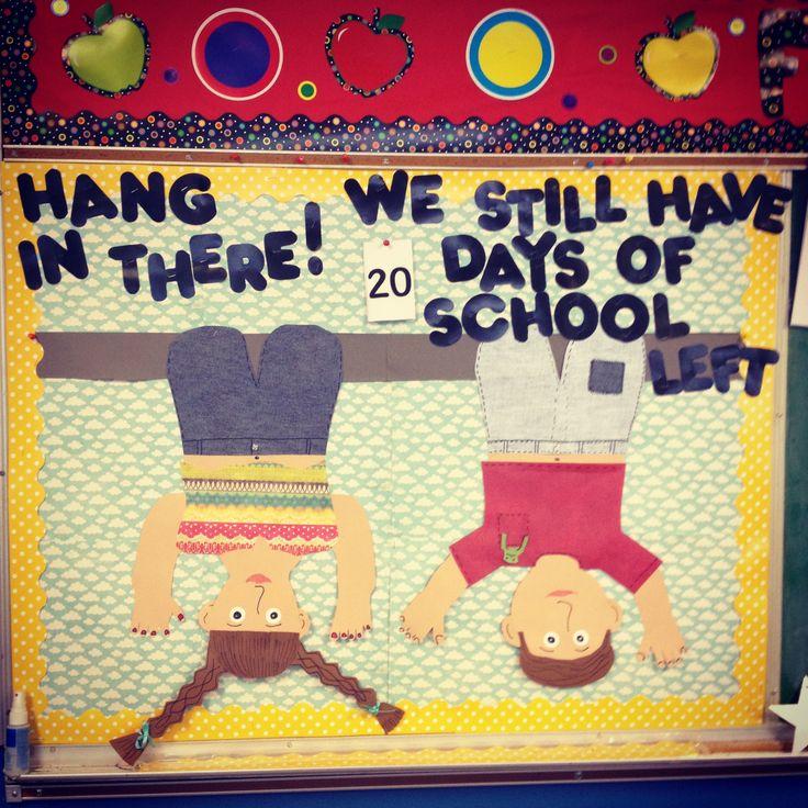 End of year bulletin board.