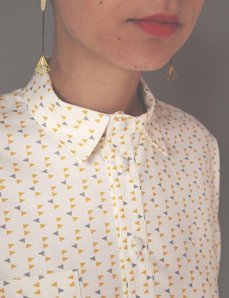 Chemise Myrcella / Patron de couture www.republiqueduchiffon.com