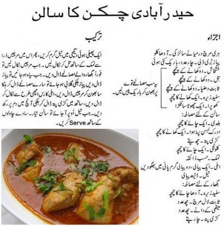 Hyderabadi Chicken Ka Salan Urdu Recipe