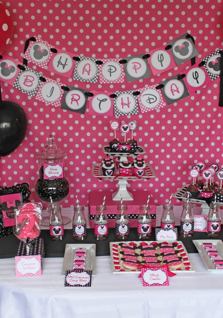 Cupcake Express: Minnie Mouse Birthday Party