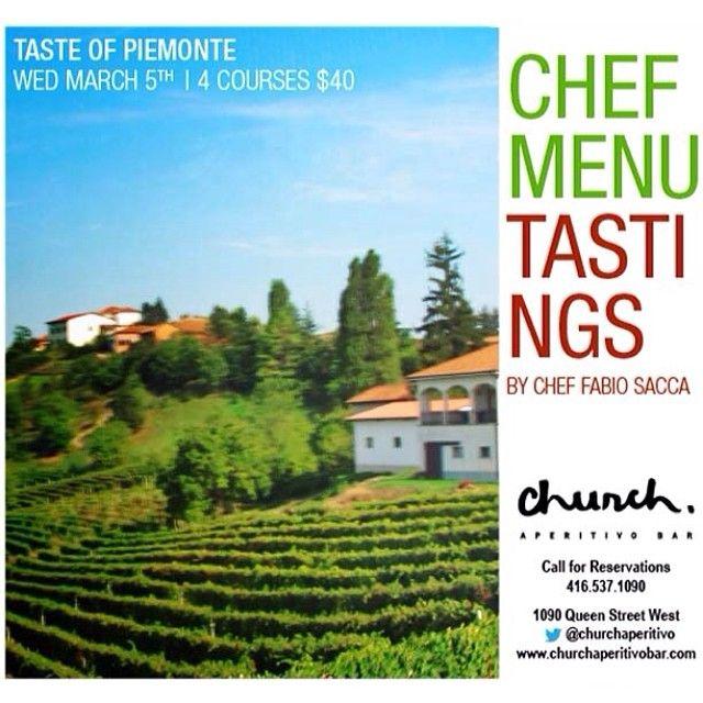Chef Menu Tasting: Piemonte - Church Aperitivo Bar #Toronto #QueenWest #Food #Italian