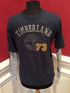 Timberland T Shirt With Thermal Sleeves Young Men's Size L (16-18)  | eBay