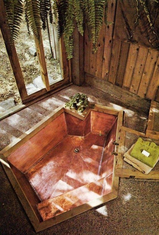 34 Dreamy Sunken Bathtub Designs To Relax In | DigsDigs