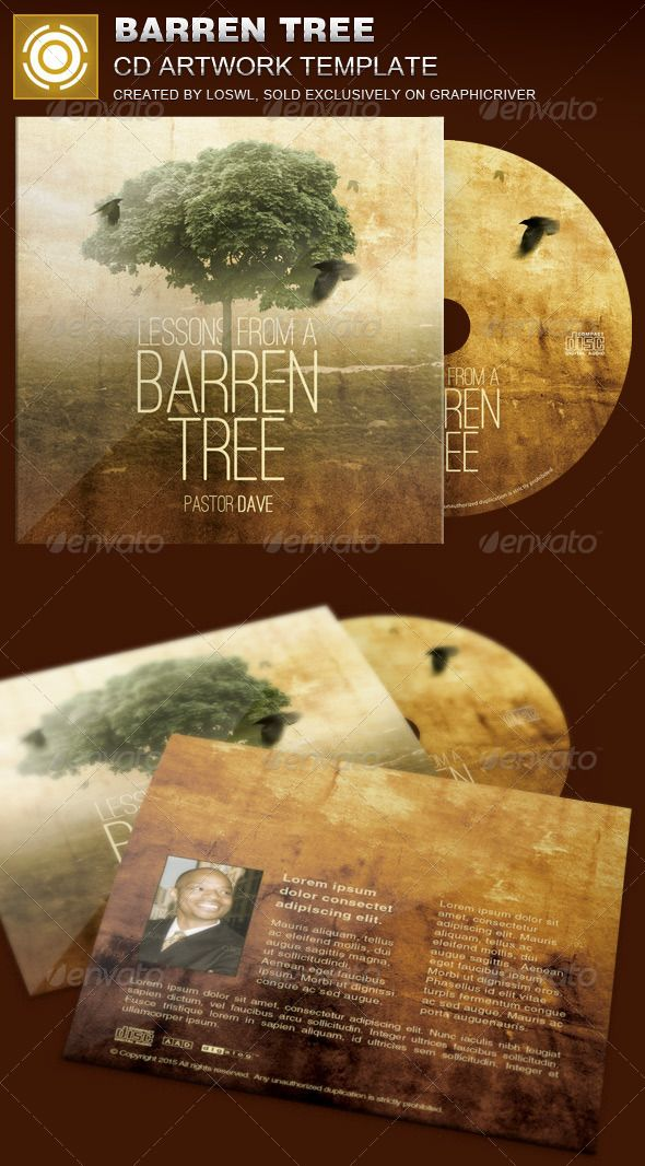 Barren Tree CD Artwork Template — Photoshop PSD #parable #artwork • Available here → https://graphicriver.net/item/barren-tree-cd-artwork-template/8407528?ref=pxcr