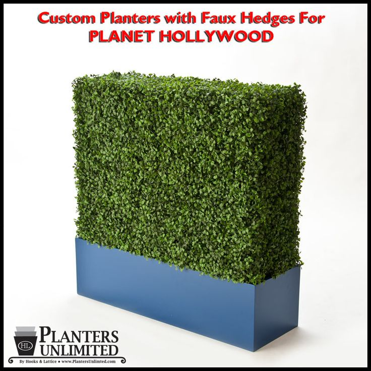 Custom Artificial Hedges in Planters