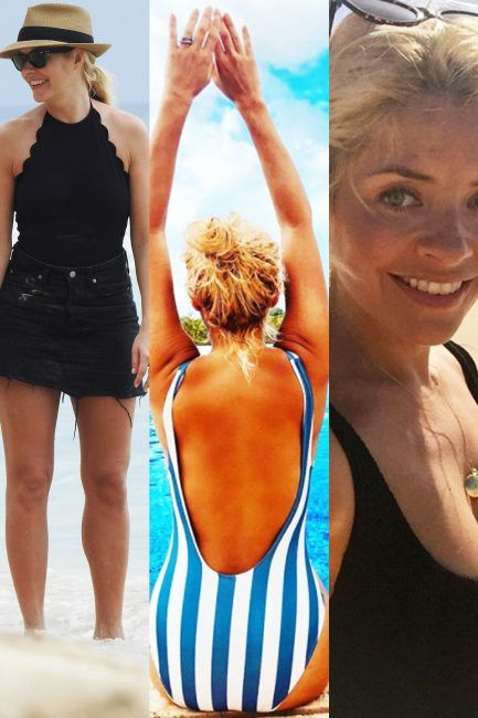 b1784f319b Holly Willoughby swimwear  This Morning host s enviable bikini and swimsuit  collection revealed from Hunza G to Reina Olga here s where you can get  Holly s ...