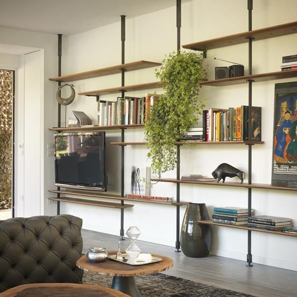 Airportmodular Wall Or Ceiling Hanging Bookcase Media Center Or Sideboard Brackets And Pillars I Living Room Wall Units Wall Shelving Units Living Room Wall