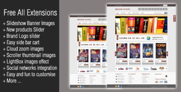 Book Store Magento Theme - Magento eCommerce
